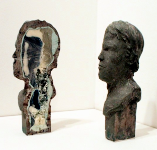Norm Paris   Geode (Arnold),  2011 Forton MG, metal powder, pigment, resin, glass 9 x 4 x 5 inches $4500