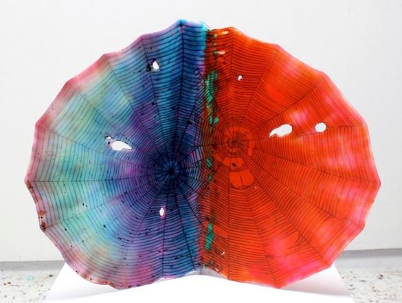 Dani Tull   Untitled, Convergence,  2013 Carved acrylic plaster, encauster wax, inlaid enamel, oil paint, glassbeads, aqua resin $9,000