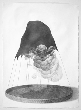 Michael Schall   Tarp,  2011 Graphite on paper 29 x 21 inches $2600 framed