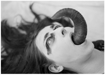 Eliza Swann     Terror Folds in Her Robes  ,    Chromogenic Print   15 x 20 in   $1,000