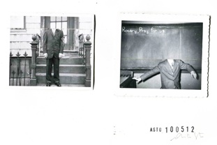 Anita Sto    Untitled #03- Series of unaware people,  2012 Reassemblage of old Photographs 15.5 x 12.5 in $450