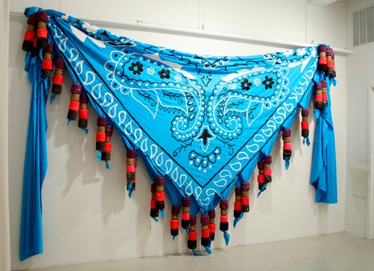 Amanda Browder   Big Bandana,  2012 Mixed Media 12 x 18 x 1 feet $ 7500