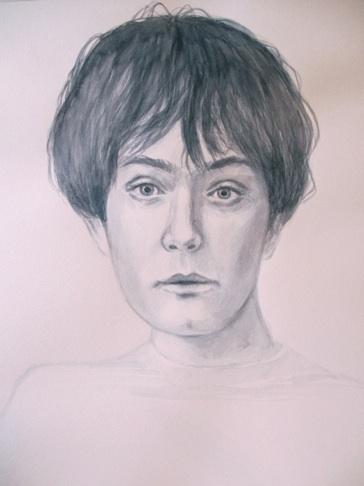 "Allison Edge   Teen Jarvis , 2012 Watercolor on paper 19x15"" $500"