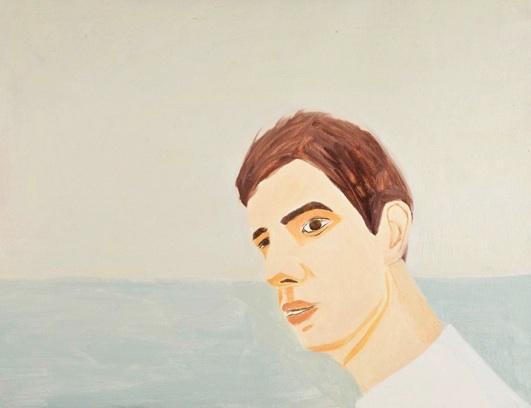"Jennifer Ku   David by the Sea, 2011  Oil on canvas 18x24"" $800"