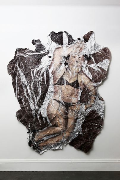 Lucy Kim   Yui- Unfolded,  2010 Oil paint on foil 68 x 86 inches Price upon request