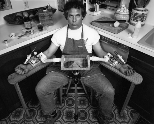 Bill Thomas   Rats & Syringes, from the series SUICIDE,  1992. Toned silver gelatin print 33 x 41 inches $2500 unframed