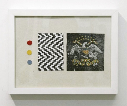 Matthew Craven   Emblem,  2012 ink and mixed on paper, 9 x 12 inches $400 framed
