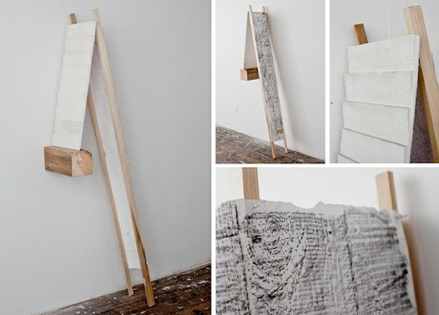 Abraham McNally   Untitled Sculpture,  2011 Plaster, wood, graphite 12 x 36 x 60 inches $2000