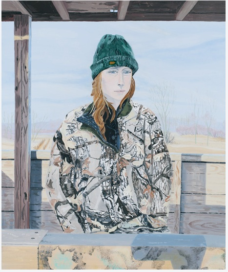 Breehan James   Self-Portrait in Deer Stand,  2011 Oil on linen 24 x 20 inches $1800