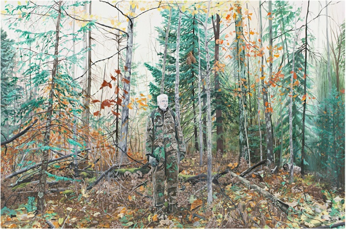 Breehan James   Deer Hunting,  2010 Oil on canvas 36 x 54 inches $3500