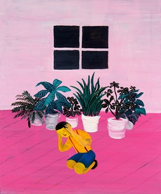 Hai-Hsin Huang     Untitled Pink,   2013     Oil on Canvas    25 x 20 in    $2,000
