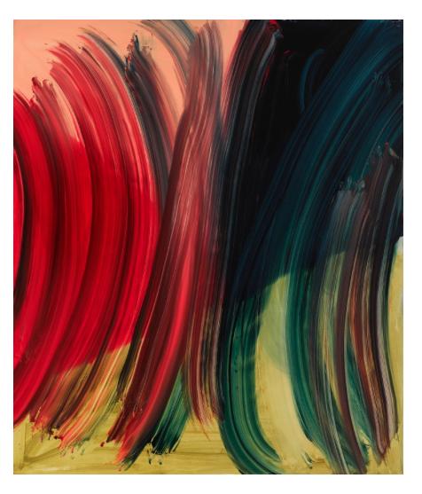"""Andrea Belag.  Lightening.  Oil on Linen. 70"""" x 60"""".2014."""