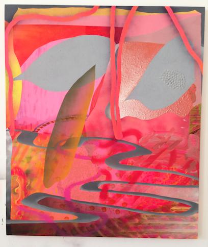 Heather Leigh McPherson.  Speed Makes me a Bad Feminist . Acrylic on Canvas. 2014.