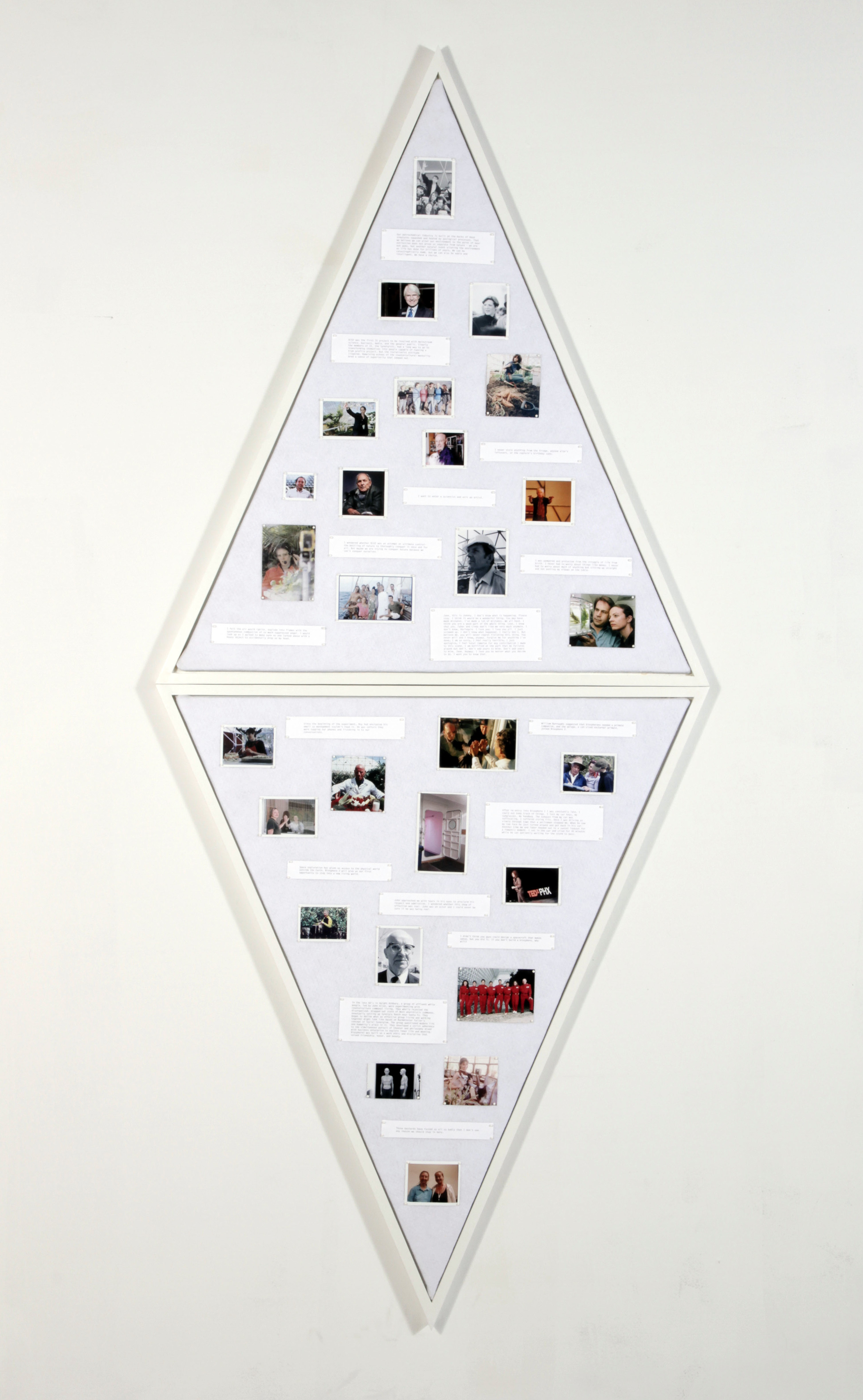 MESSAGES,    2014,   inkjet prints on felt with map pins, 92x40x1.5""