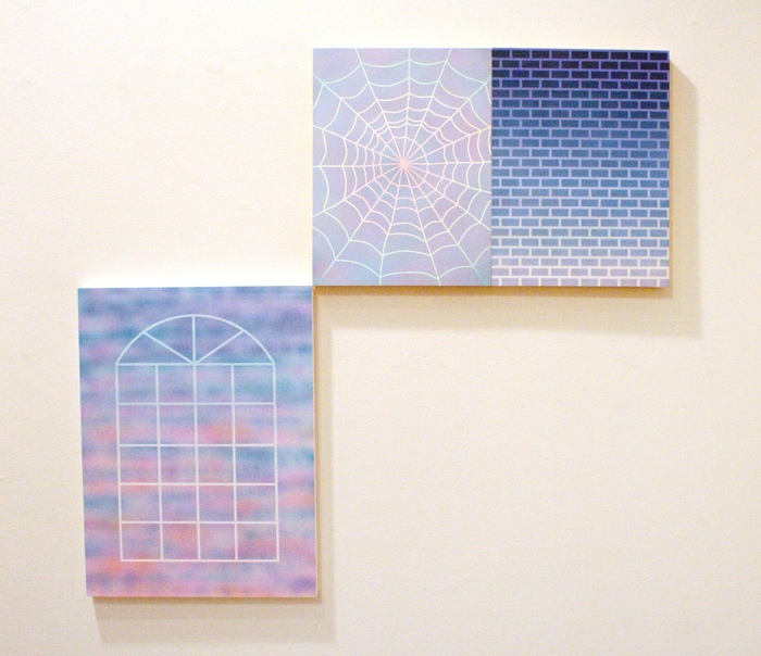 "Some Velvet Morning, 2014, Acrylic on panel, 16"" x 12"" Revenge, 2014, Acrylic on panel, 12"" x 9"" Soft Moon, 2014, Acrylic on panel, 12"" x 9"""