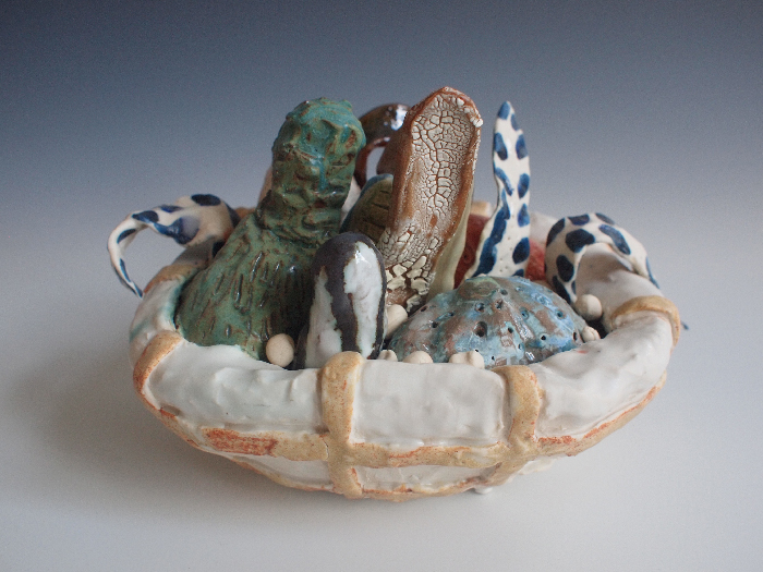 Jessica Perelman,  Growth Object 21 , Stoneware and porcelain,