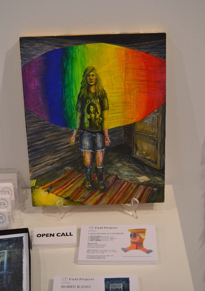 "Amanda Lechner, ""Rainbow in the Dark"", 2013, Egg tempera on panel, 11 x 14"""