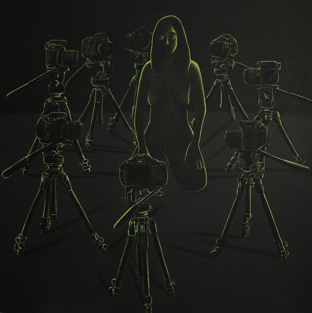 Vanessa Gully-Santiago / Display / Acrylic on canvas / 60 x 60 inches   http://vanessagullysantiago.com