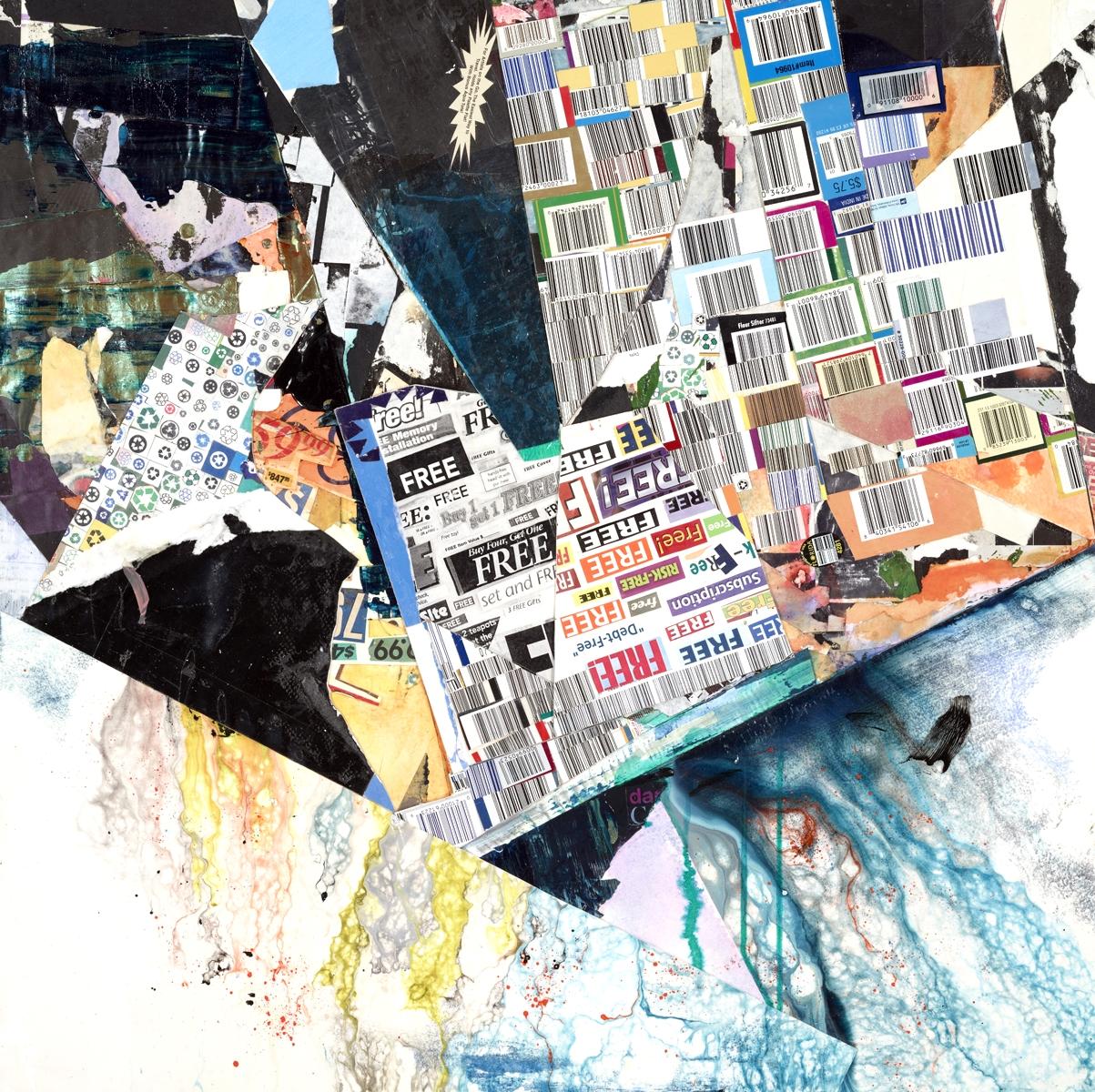 "Amy Pryor /Landslip/mixed media collage on panel /24"" x 24""   http://www.amypryor.com"
