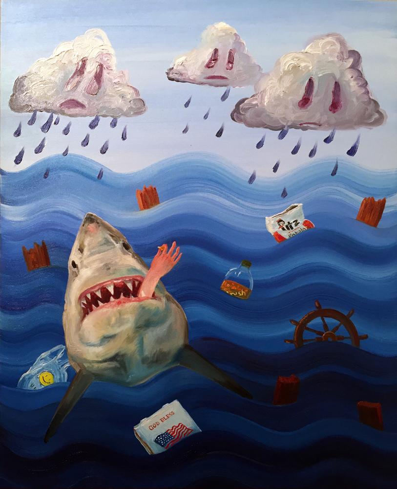 "Alexandra Evans  ""Shipwreck'd""  oil on canvas  24""x30"""