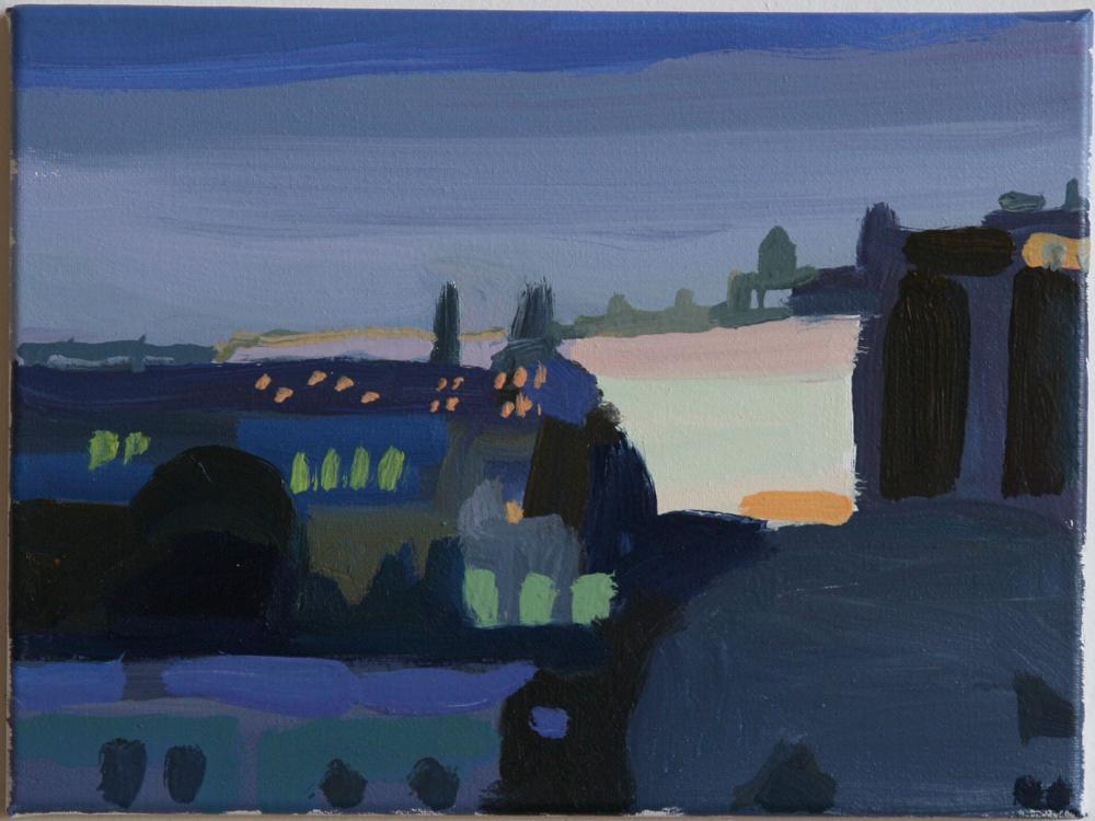 """Benjamin Lankton Night Moves Oil on canvas 9 x 12"""""""