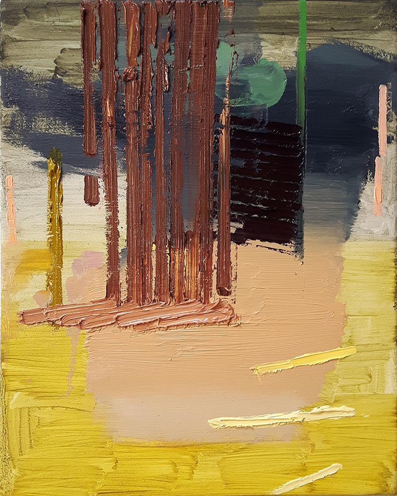 "Scott Everingham The Slower Lawnchair Oil on canvas 60""x 66"""