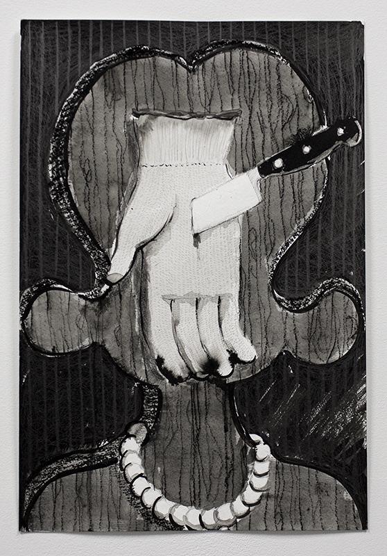 "Cindy Ji Hye Kim ""Demonstration/ Illustration"" 2017, charcoal, graphite, and ink on paper, 11"" x 17"""
