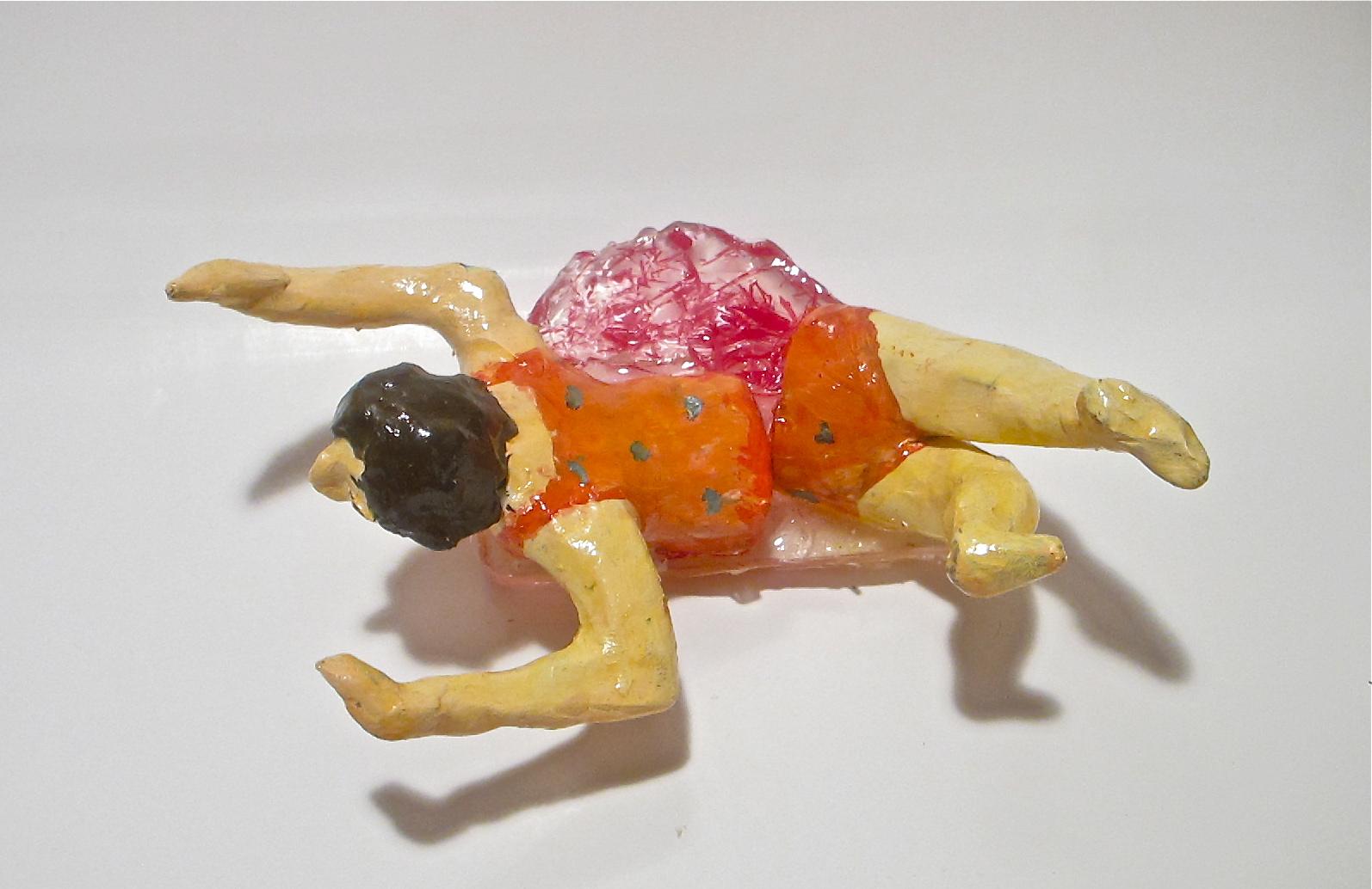 """Janie Korn 'Breaking Up,' 2016, resin, ceramic, acrylic, found objects, 8""""x4""""x4"""""""