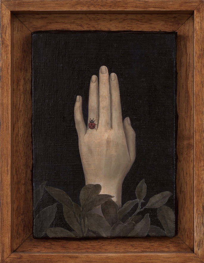 "Aya Ogasawara , Her Engagement , 2015, Oil on canvas, 7 x 5"""