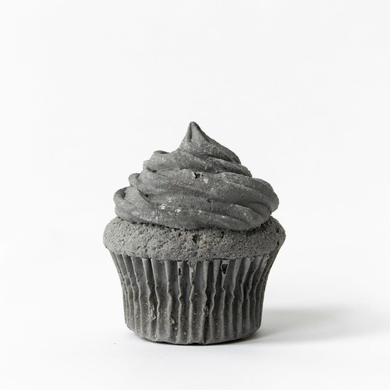 "Spencer Merolla ""Cupcake"" / 2017 / coal ash, resin / 2.5"" x 2.5"" x 3""   http://www.spencermerolla.com"