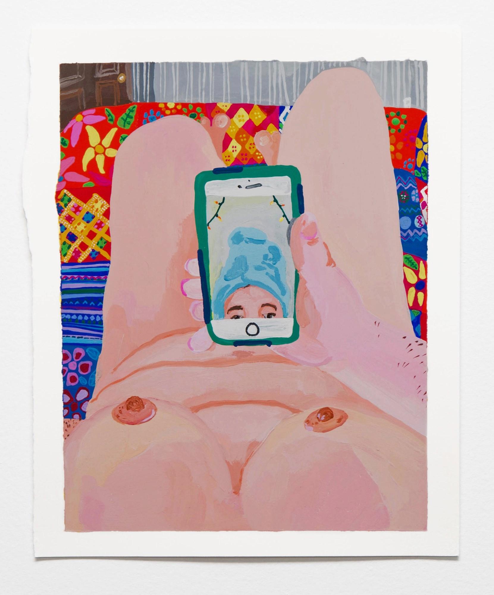 Sarah Treharne,  Getting Ready for work like , 2016, Gouache, 11 x 9 inches