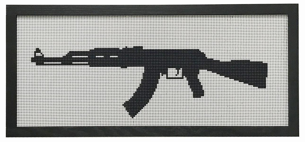 Kent Horiguchi, AK47 , 458 × 1058 mm, Plastic BB, wood, acrylic board