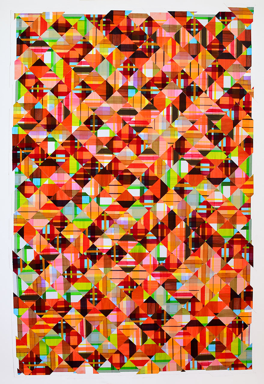 """Jessica Slaven   To be in the know , 2015  Acrylic on paper  49 x 32""""  $1500"""