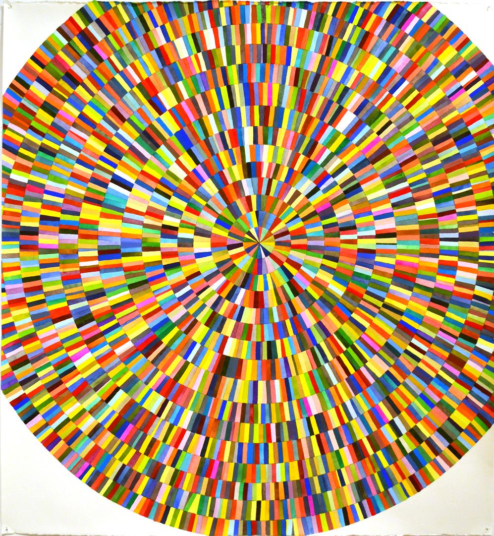 "Jessica Slaven   Syd 1 , 2018  Watercolor on paper  44.5 x 50""  POR"