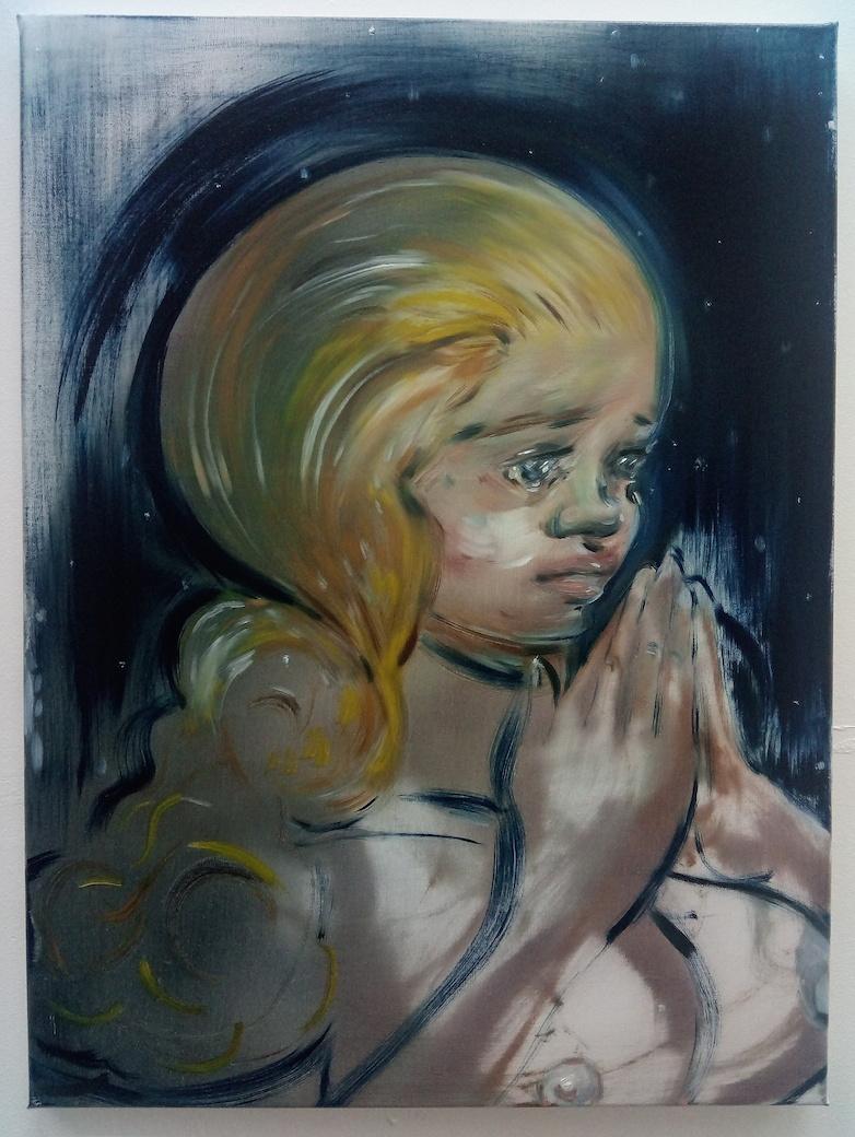 "Hannah Murgatroyd ""Our Souls to Keep"" 2017, oil on linen, 24"" x 18"""