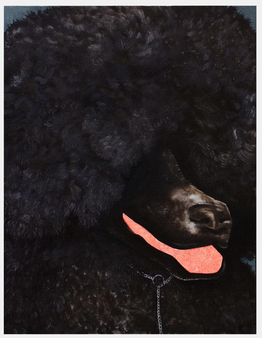 "Kat  Lyons ""Winner"",  2018, Oil  on  canvas,  18  x  20"""