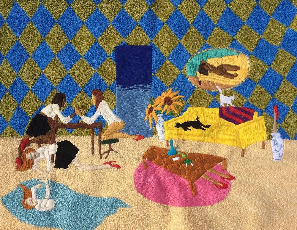 """Nico Mazza """"Sueño #1 (Dream 1)"""" / 2018 / embroidery / 14"""" x 11"""""""