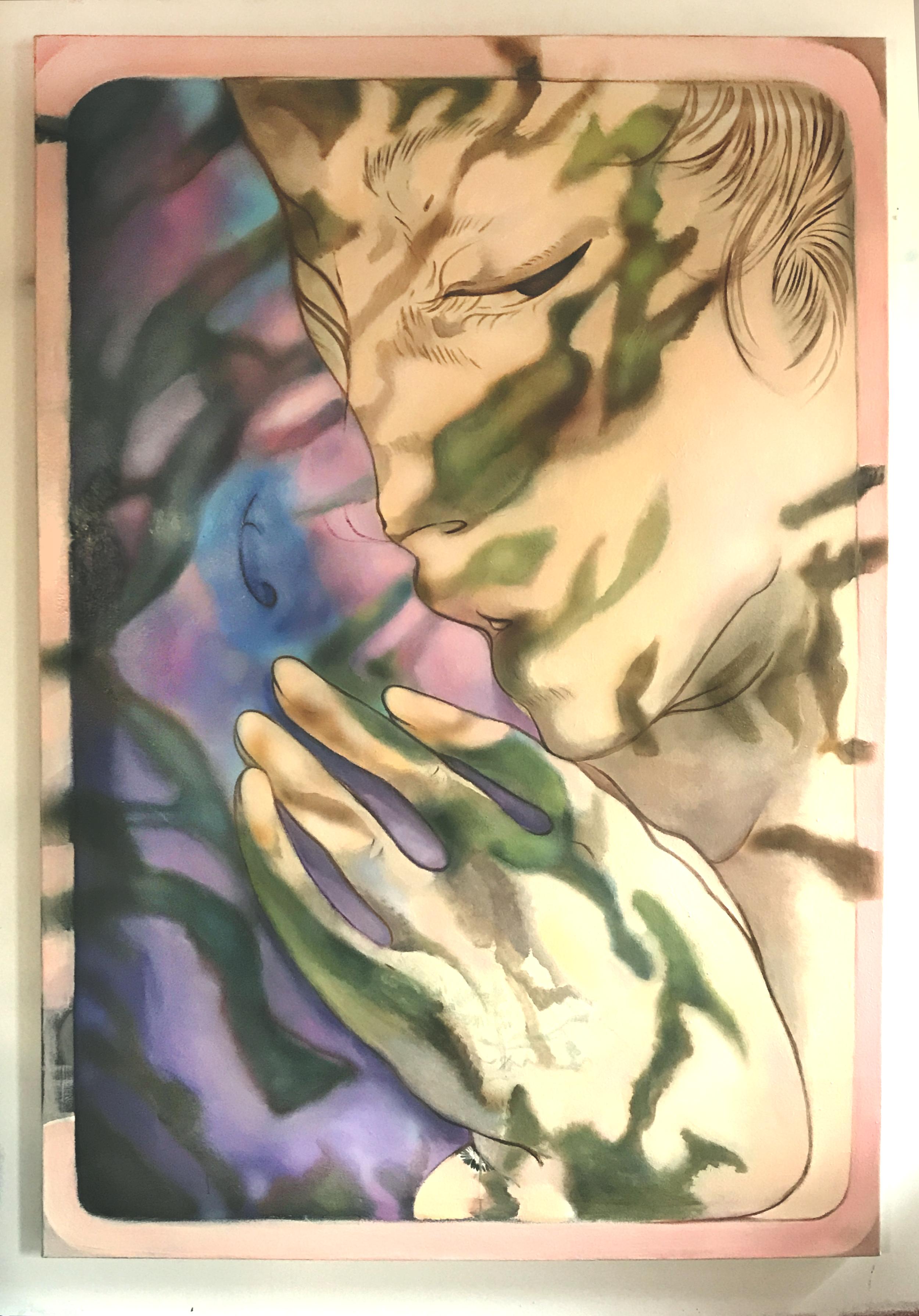 "Nefertiti Jenkins ""Body/Pillow"", 2018, Oil on canvas, 72x48"""