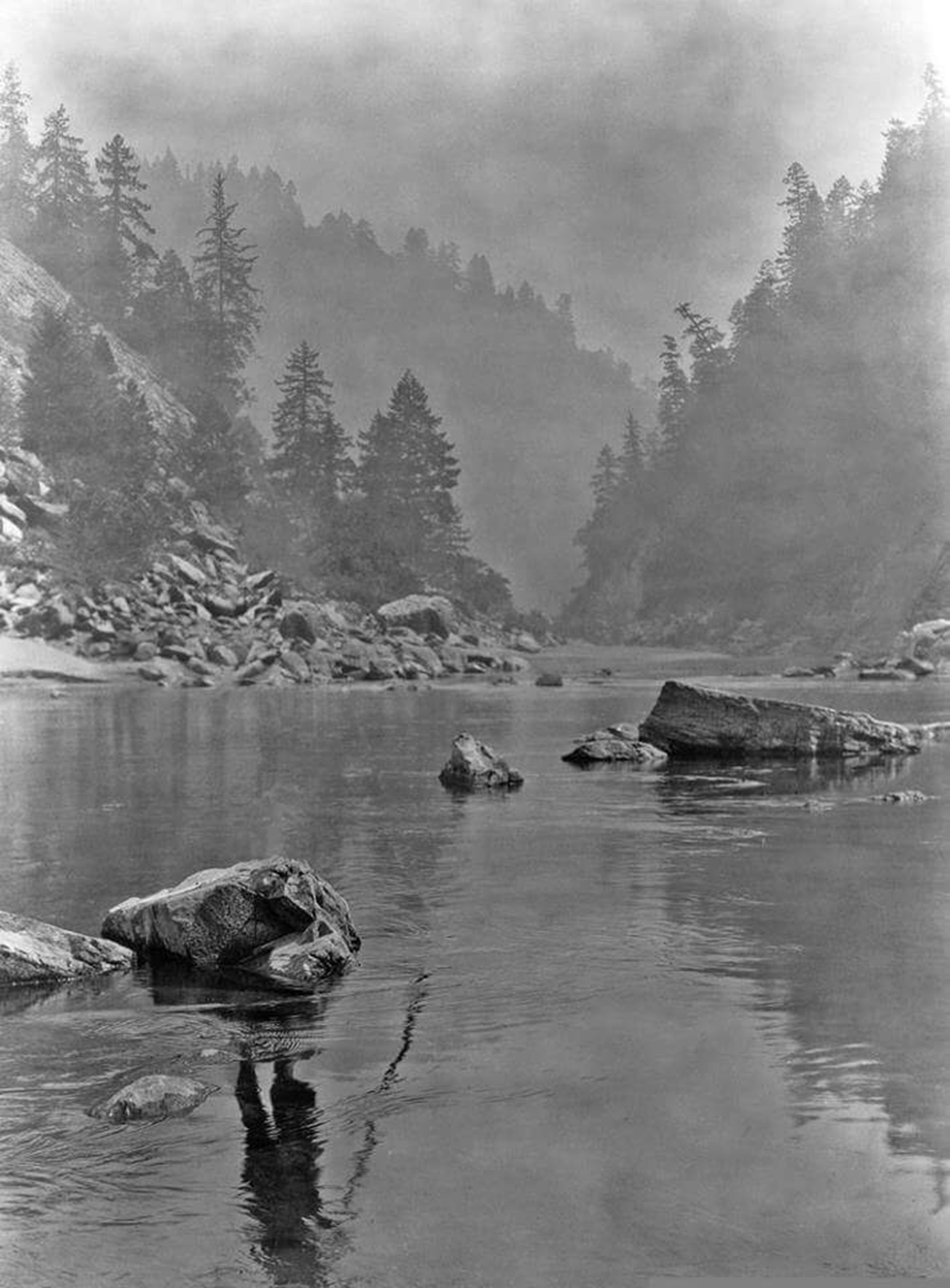 The second image in this project is an alteration of the photograph  A Smoky Day in the Sugar Bowl , 1923, by Edward Curtis.