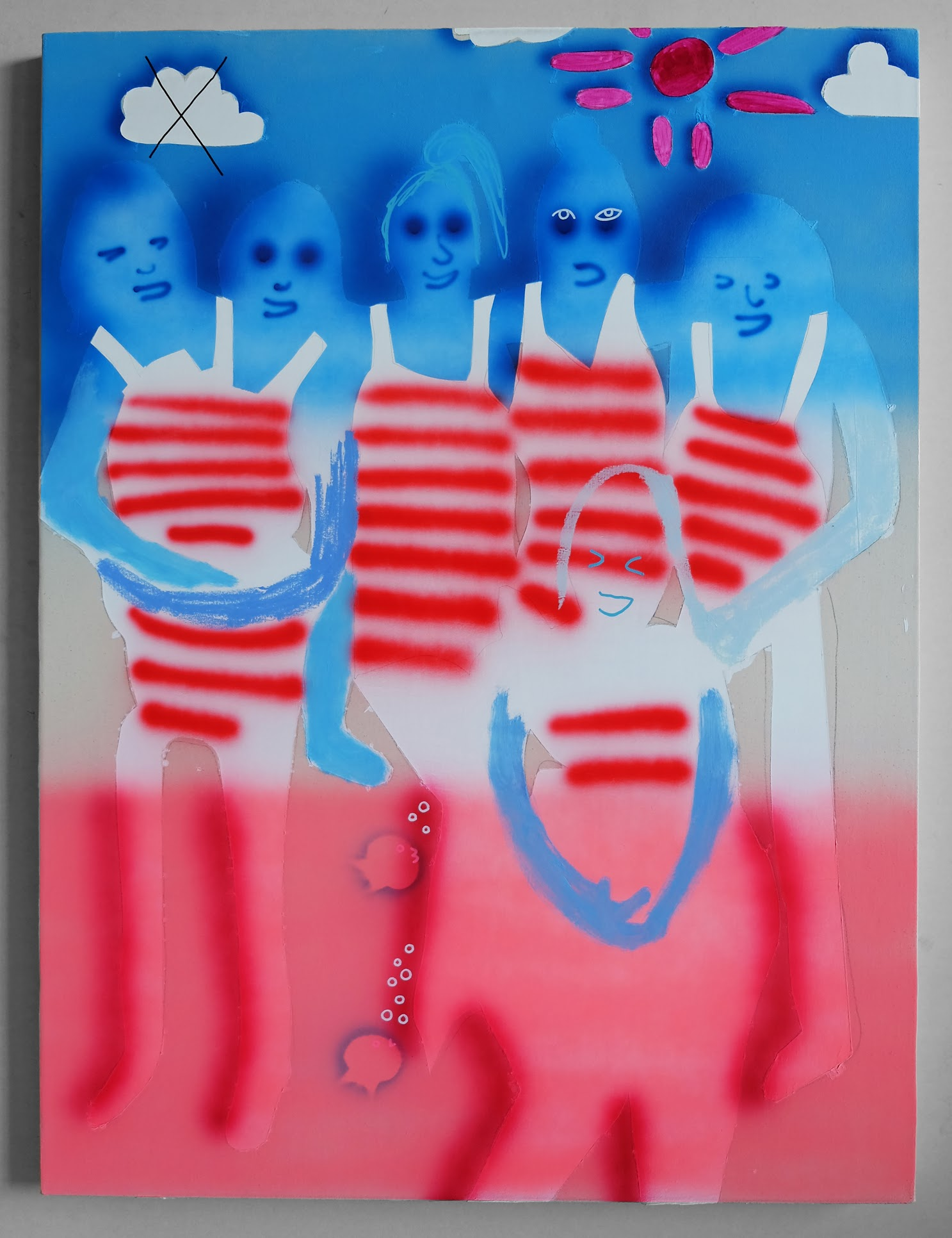 """""""American Popsicle"""", 36""""x48"""", 2017, acrylic and oil on canvas"""