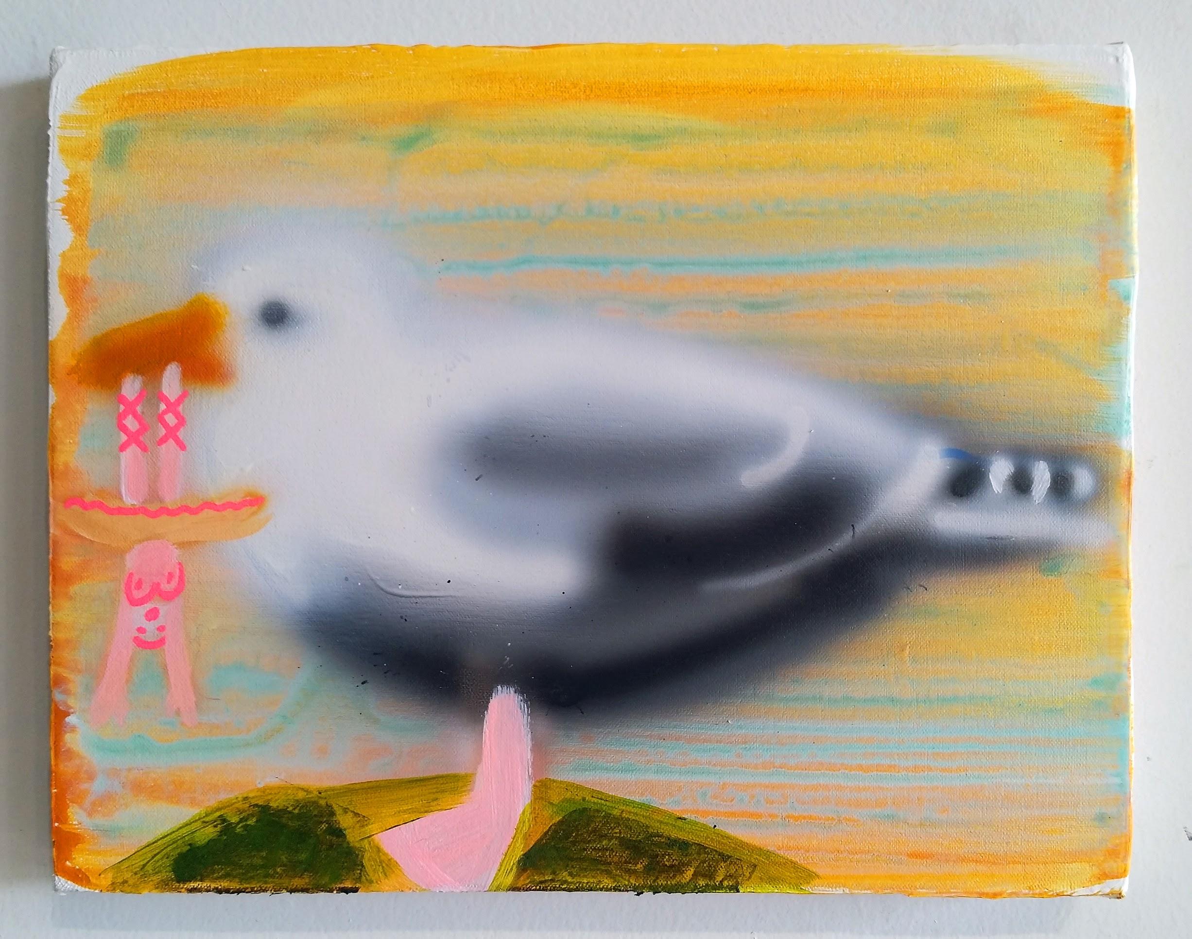 """Ballerina Snack"", 14""x11"", 2018, acrylic and oil on canvas"
