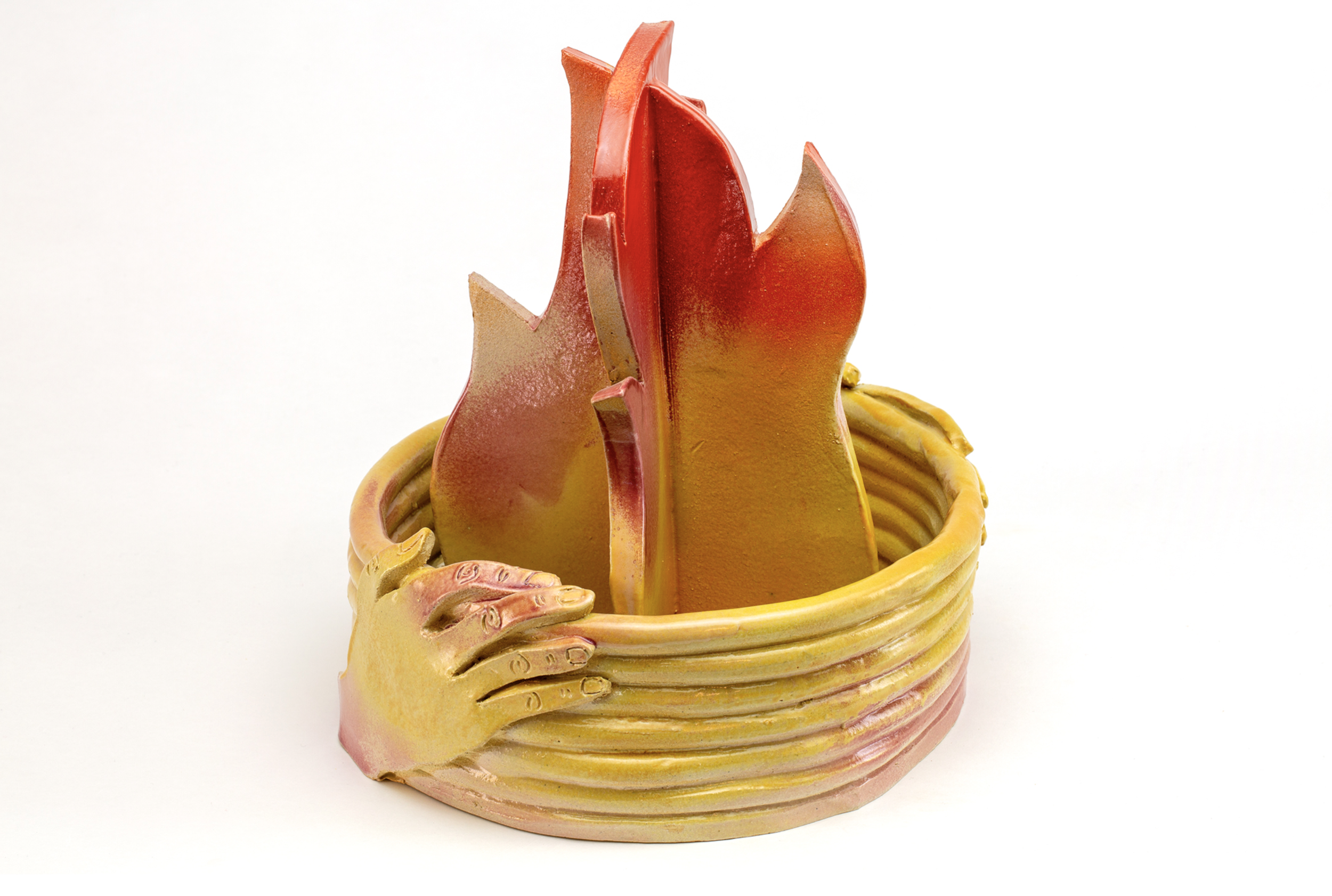Sarah Alice Moran, See Fire See Sea, 2018, Ceramic, 11 x 10.5 x 12""