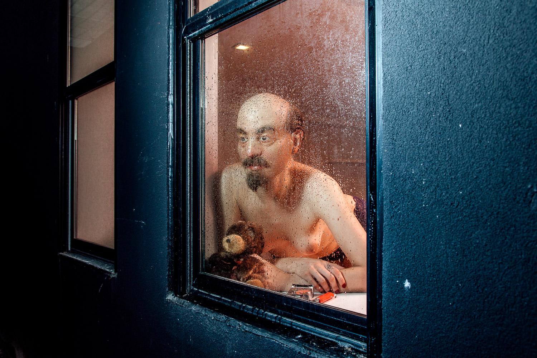 """Ilya Popenko /  Vlad Awaits by the Window /  2018 / Digital C-print / 20"""" x 30"""" /  www.ilyapopenko.com"""