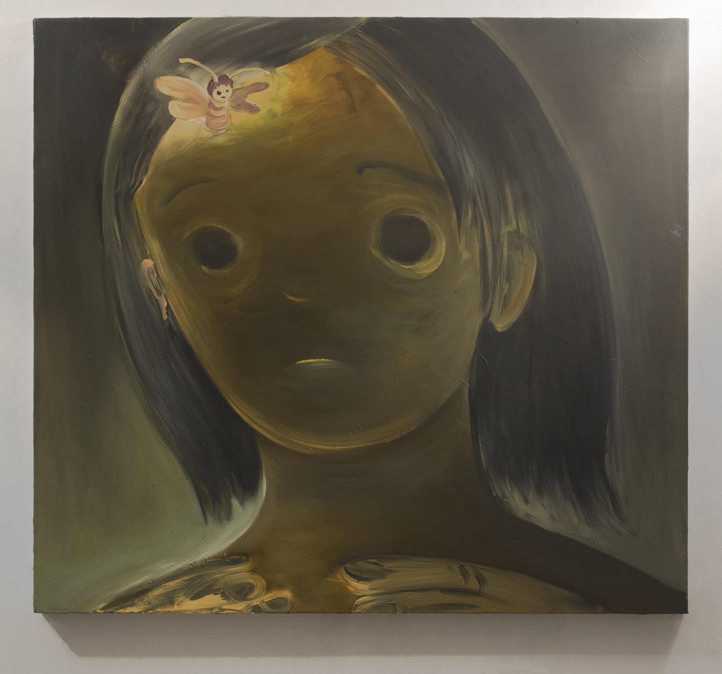 """Tsailing Tseng /  Queen of the bees  / 2019 / oil on canvas/ 50 x 55"""" /  tsailingtseng.com"""