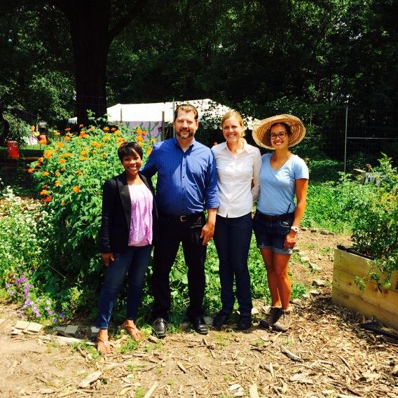 All smiles with Councilmember Grosso at the Washington Youth Garden