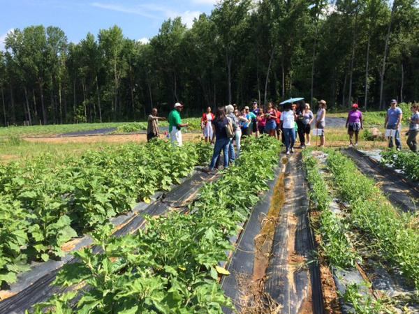 Touring the Muirkirk Research Farm in Beltsville, Maryland.