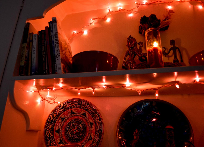 Kitchen Altar in progress.