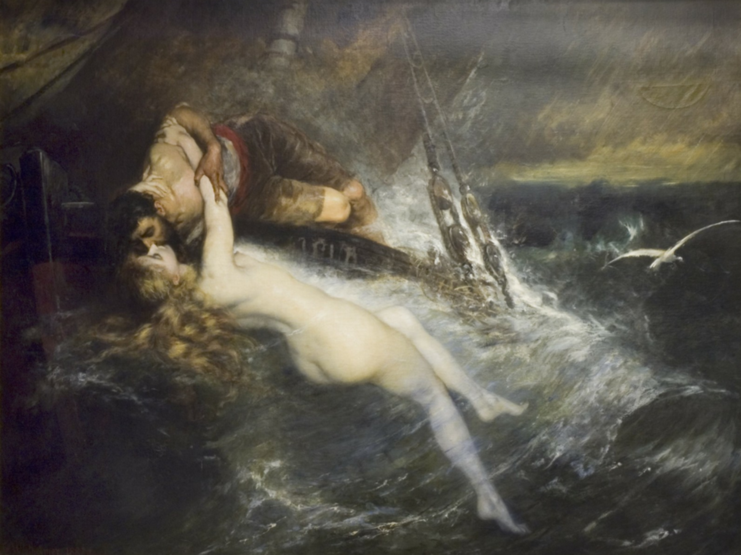 Kiss of The Siren,  Gustav Wertheimer, 19thC.