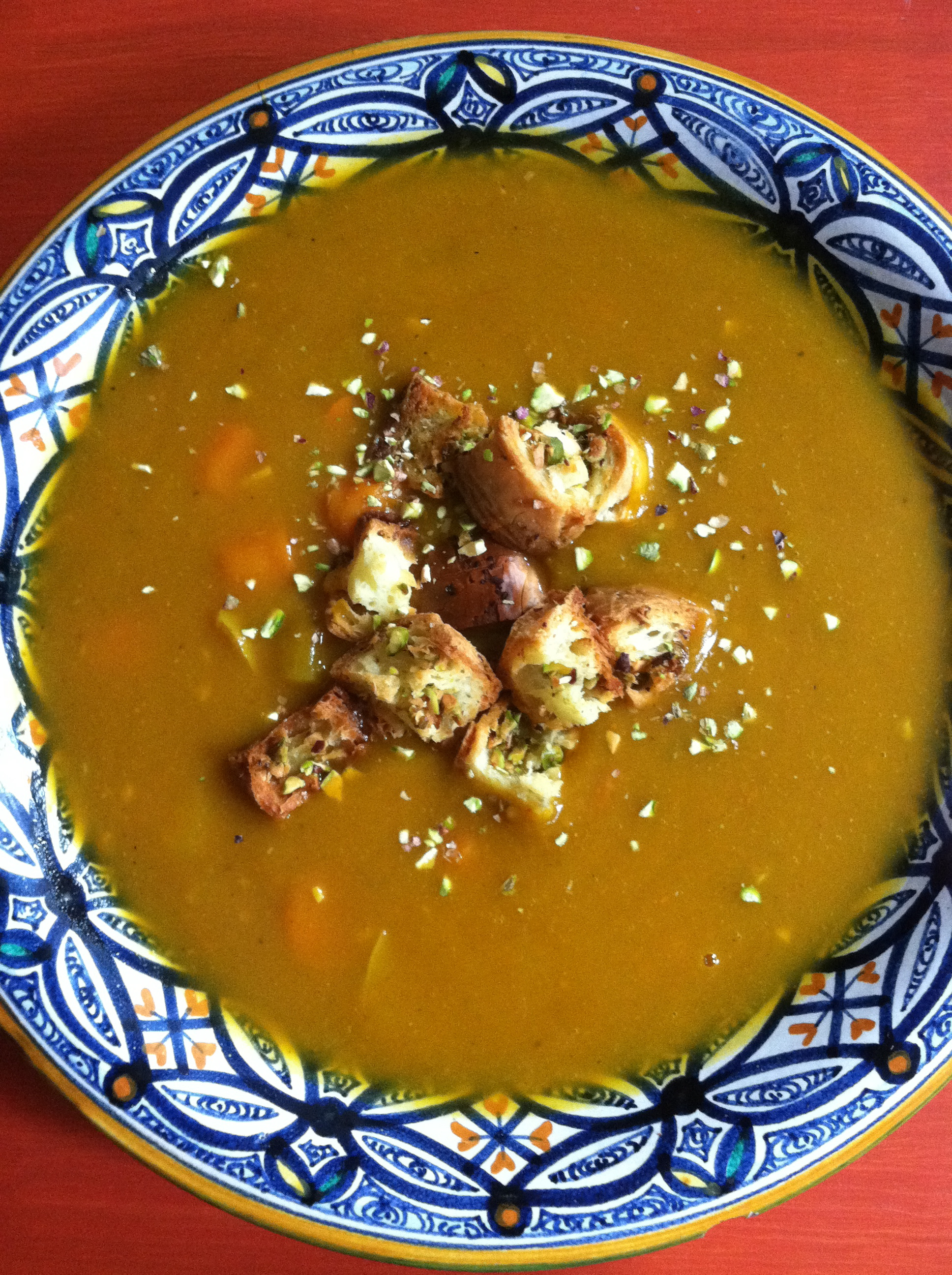 Pumpkin Soup w Pistachio Croutons.jpg