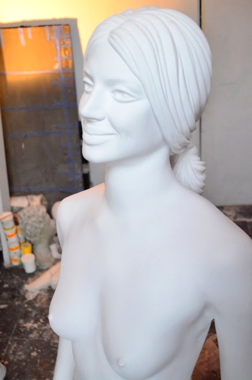 mitchell cooper sculpture modern nudes the chocolate factory nyc mold making nude models